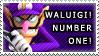 Waluigi Number One Stamp by William-David-Afton