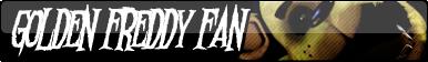Golden Freddy Fan Button by AftonTrash