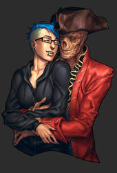 Commission from Pirate-Cashoo - Lovely Huggle by William-David-Afton