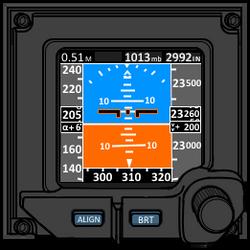 Digital artificial horizon for VFH-10 Auroran AGAC by yui1107