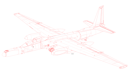 (RED Lineart ) TU-222R Dragon Lady II delete radio