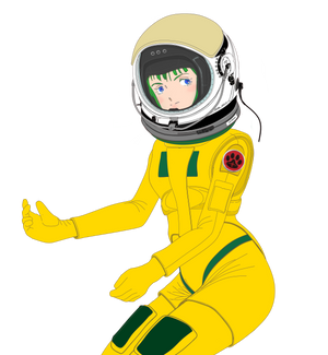 (Partial) Musica wearing pressure suit Mk.33