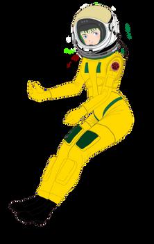 Musica wearing Pressure suit Mark 33 (Helmet on)