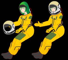 (Archetype) Musica wearing pressure suit Mk33