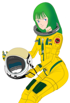 Musica holding Mk33 pressure helmet (Bust)