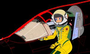 Canopyframe half cut Aurora Sterling pressure suit
