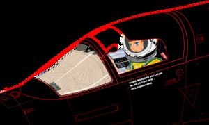 (Full canopy frame) Dame Marlene in U-222 cockpit
