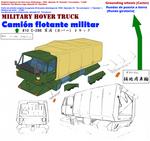 Military hovertruck Camion flotante militar 2020