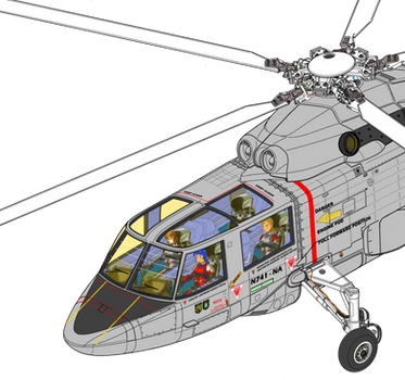 Sikorsky S-72 Trio of the test flight part-2