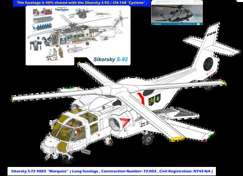 Sikorsky S-72 Longfuselage Marquise w landing gear