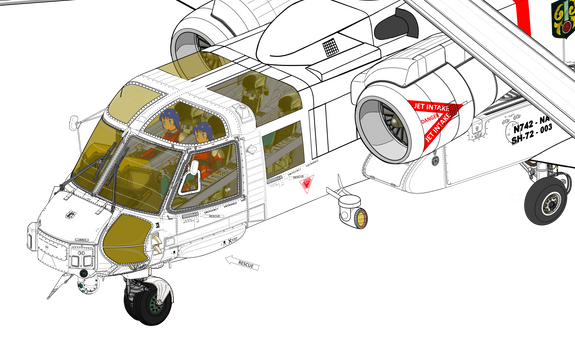 (Cut the nose) Sikorsky S-72 Longfuselage Marquise