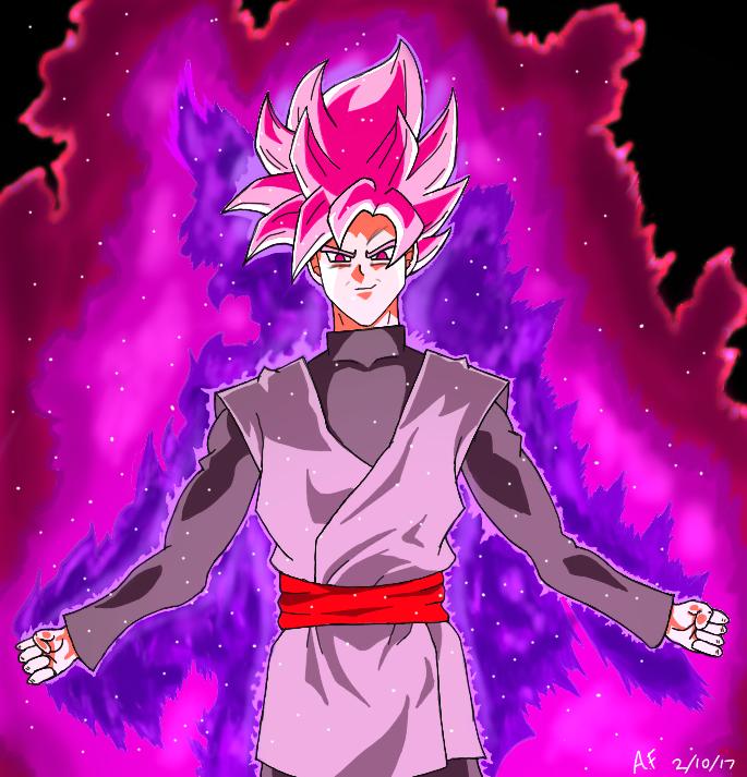 Goku Black Super Saiyan Rose' by Argen-0042