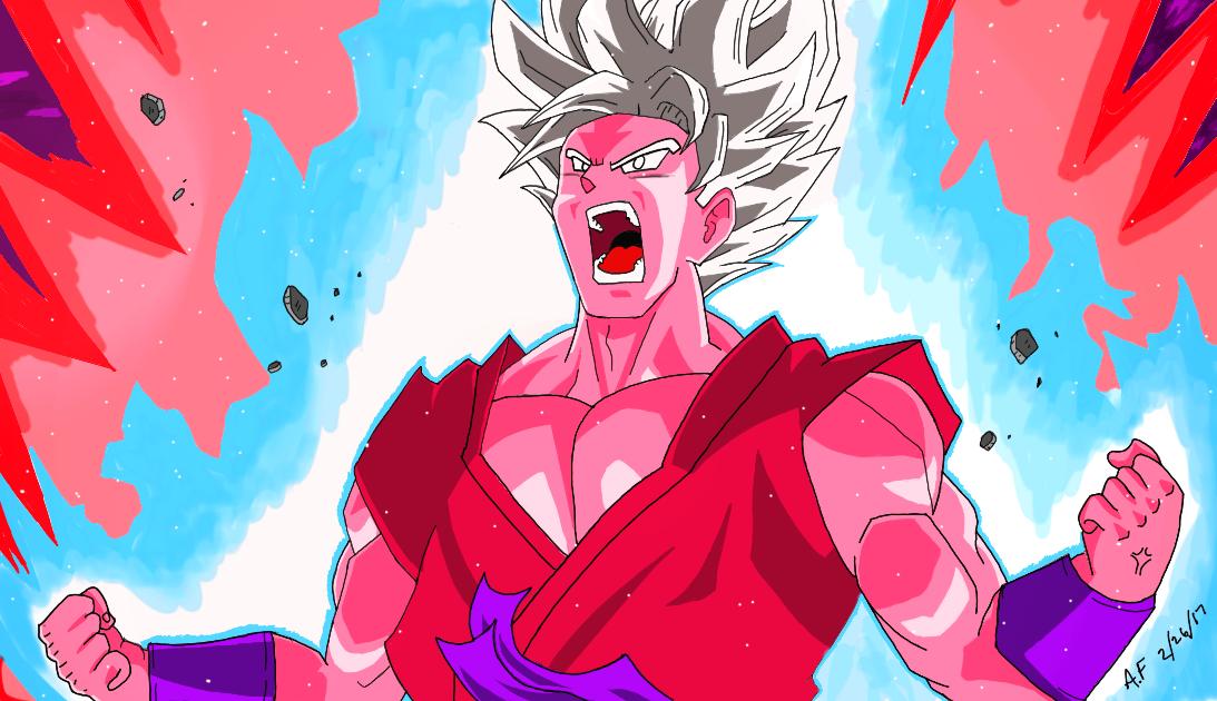 Goku Super Kaioken X10 by Argen-0042