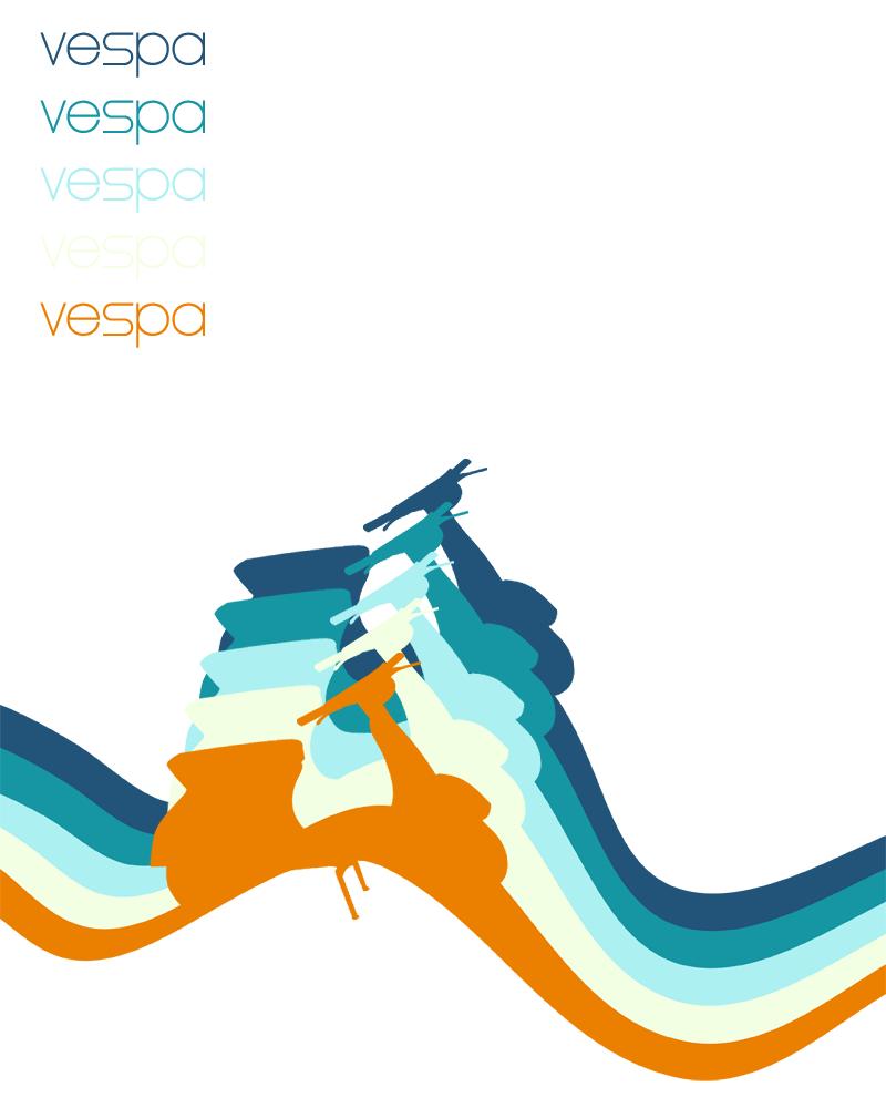 Vespa Poster by bazzlebeyond on DeviantArt