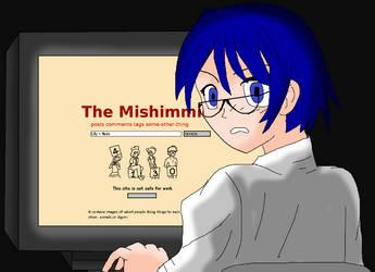 Shizune At Her Computer by AlanBates