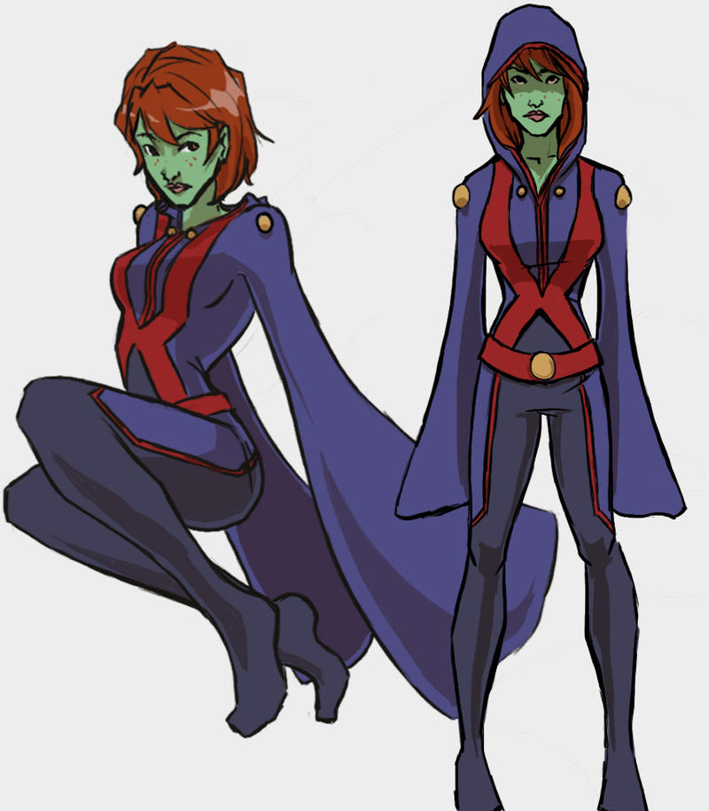 green arrow | The Night Owl: a superhero blog |Miss Martian Human Form