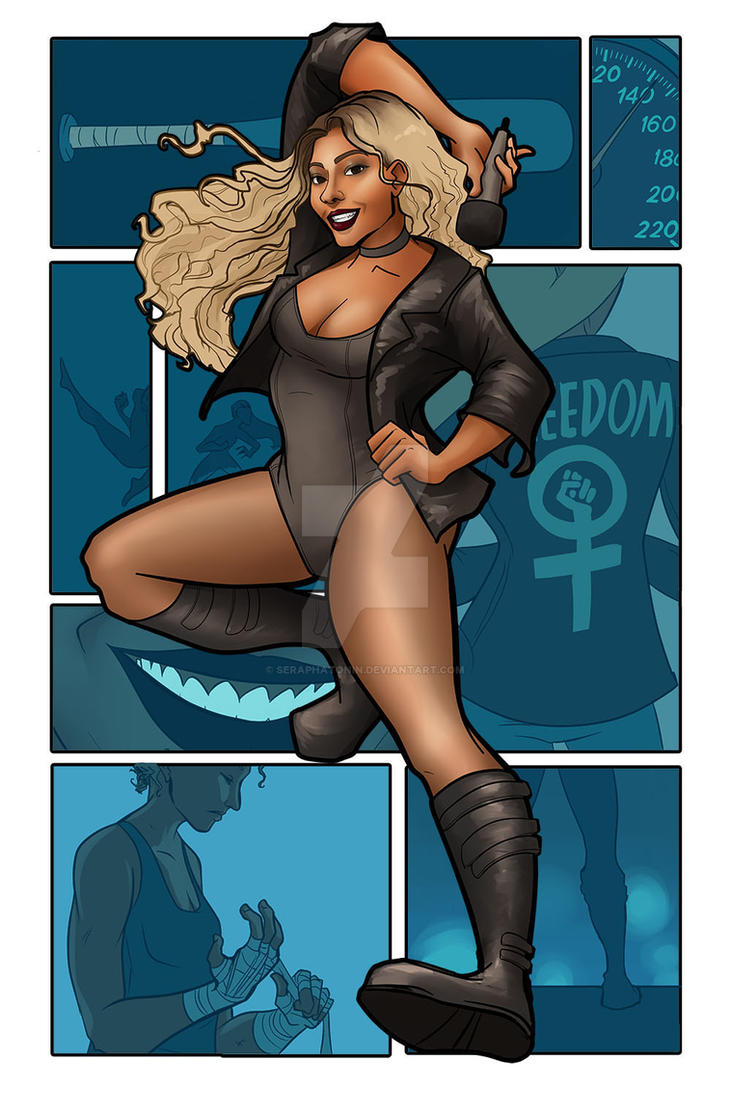 black canary by seraphatonin