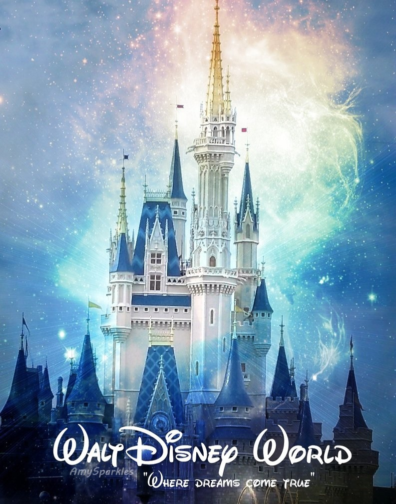 walt disney world cinderella castle by amysparkles on