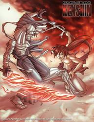Kenshin vs Shishio Fanart by gaudiamo
