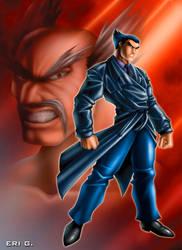 Heihachi vs Kazuya by gaudiamo
