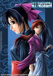 Kenshin and Kaoru Fanart by gaudiamo