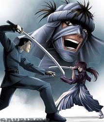 Kenshin vs saito by gaudiamo