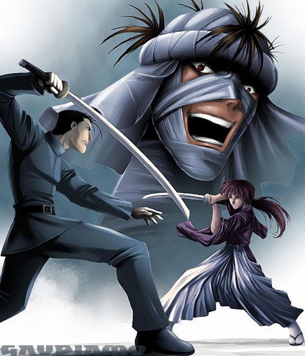 Kenshin vs saito by gaudiamo on DeviantArt