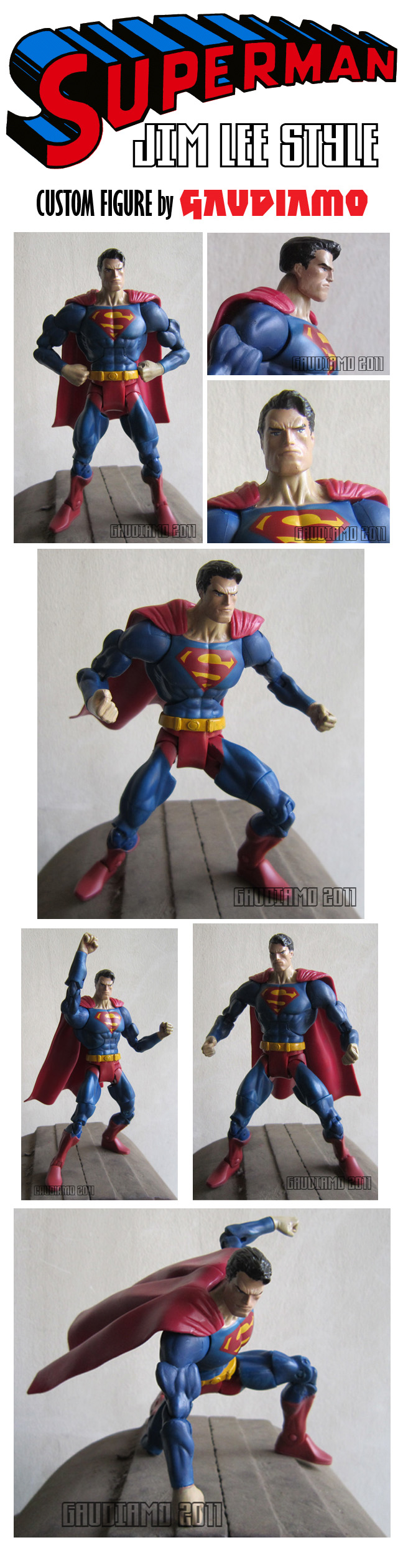 Superman custom figure by gaudiamo