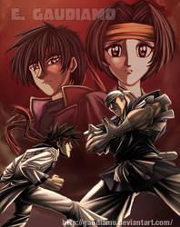 Sanosuke vs Anji by gaudiamo