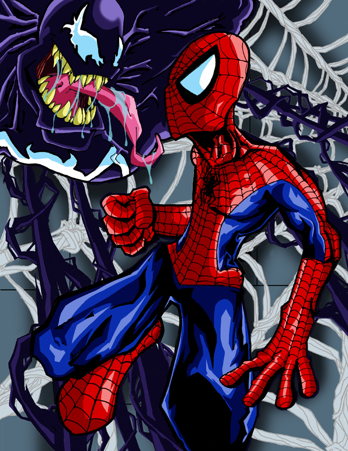 Spider-Man vs Venom by misterzubair