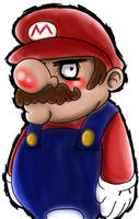 Pissed Off Mario by misterzubair