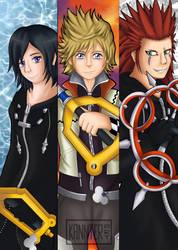 Kingdom Hearts: Xion, Roxas and Axel