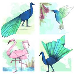 Origami Birds - Part 2