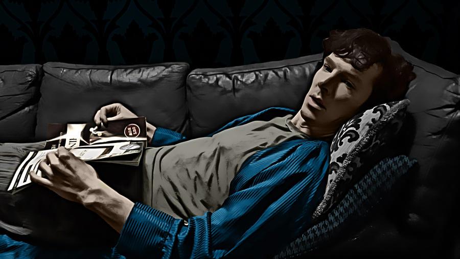 Sherlock on the Sofa by Nero749