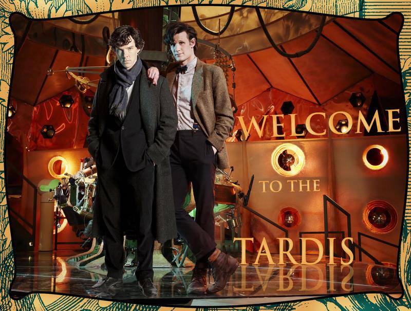 Sherlock in the Tardis by Nero749