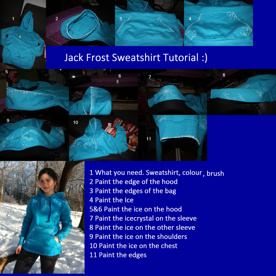 Jack Frost Sweatshirt Tutorial by Ithiliel-o-Gondolin