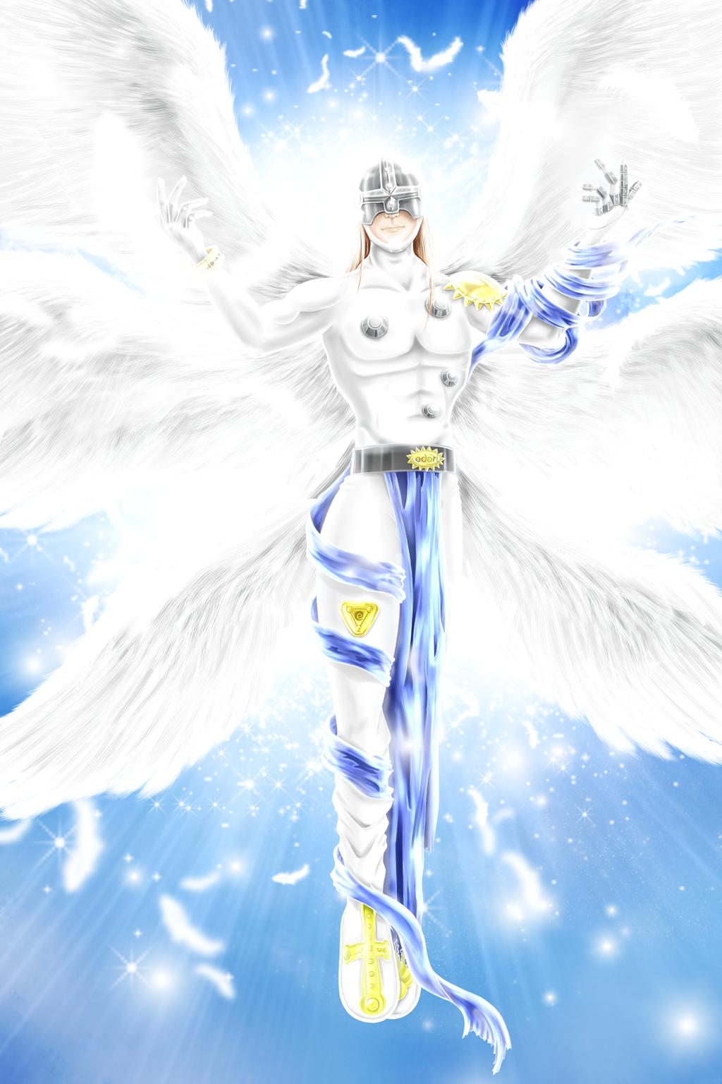 angemon by edari on deviantart