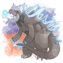 Godzilla Pokemon Alternative Form 1