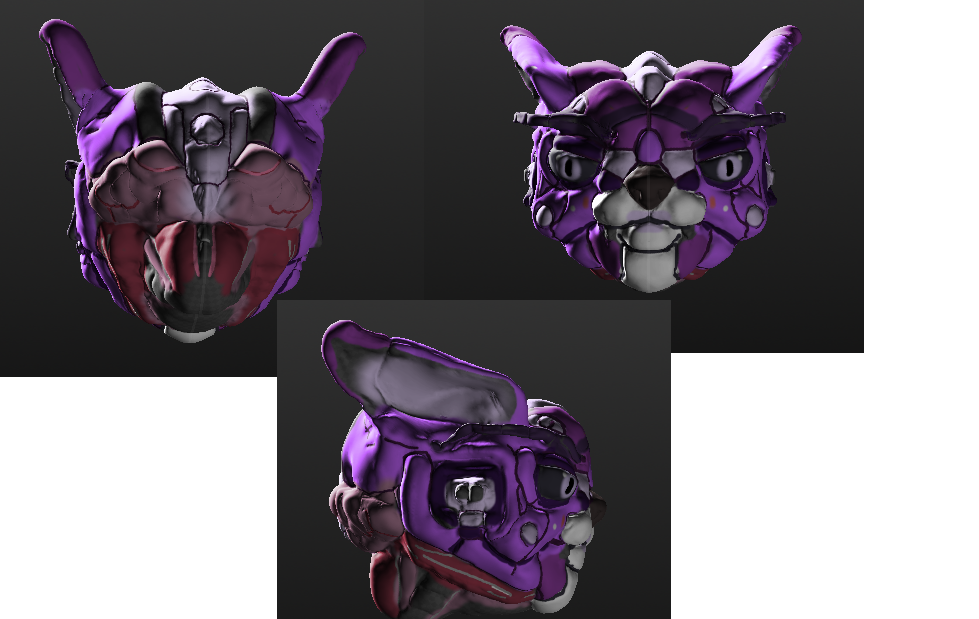 My first 3d model head by Prodestiny