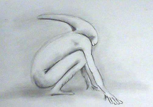 Alien Crouching Over