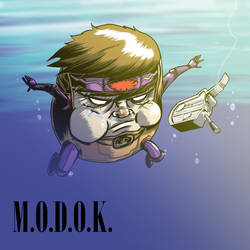 Modok on the cover of Navermind by nandop