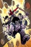 Lobo, Deadpool, Goon, Snake Plissken Spike Color by nandop