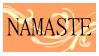 Namaste Stamp by regina35nocis