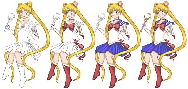 Sailor Moon Steps by regina35nocis