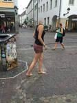 Dezcalza en la calle