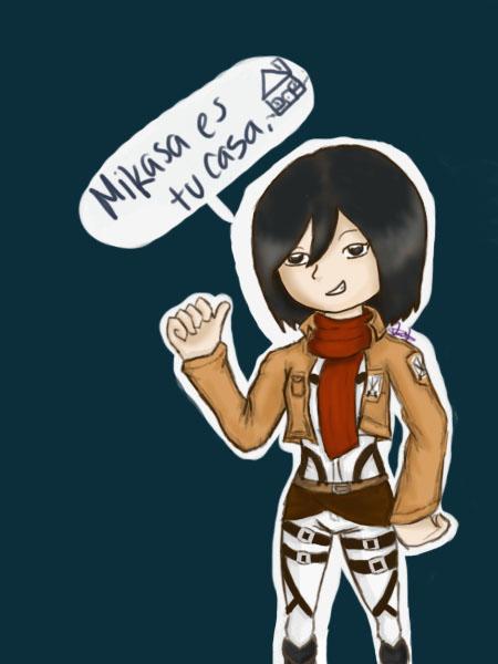Mikasa es tu casa by artifly on deviantart for Mikasa es su casa