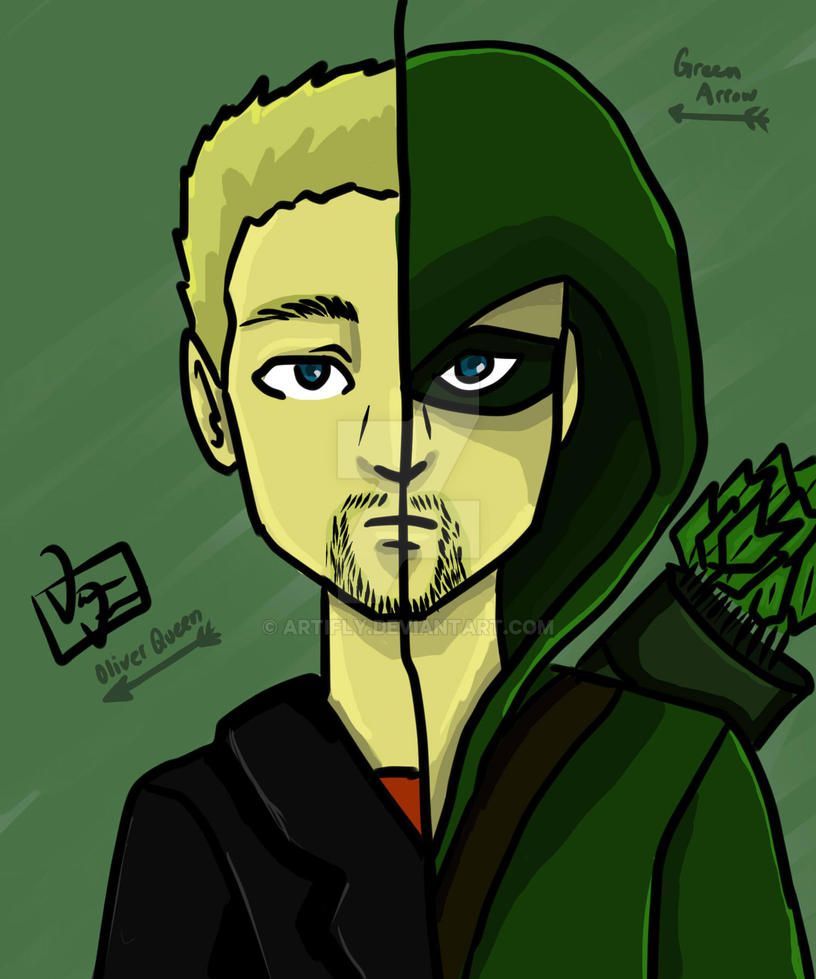 Oliver Queen is Green Arrow by artifly