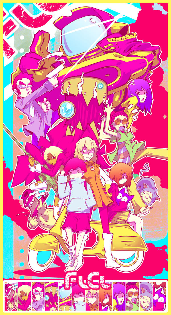 Acid FLCL Poster by Slush-A