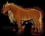 Red Harlequin Horse