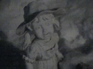 creepy statue in my yard by Quacthulhu